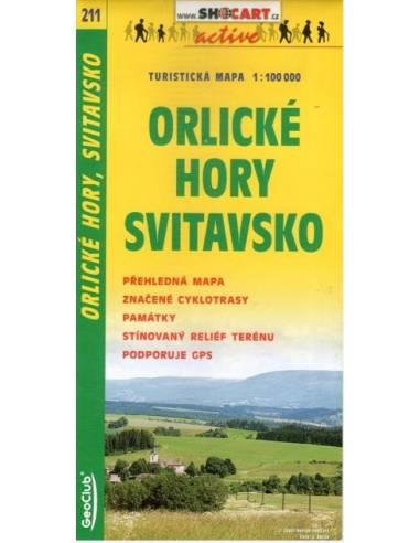 SC 211 Orlické Hory / Svitavsko térkép