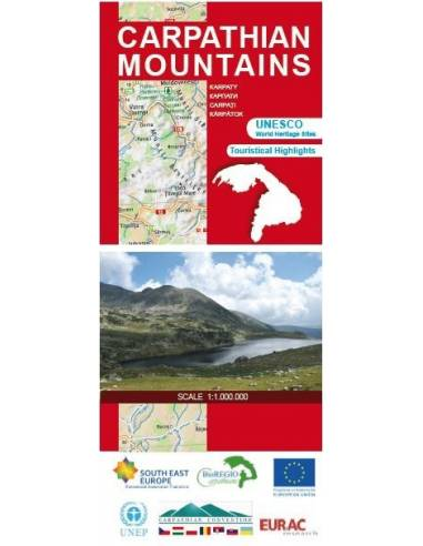 Carpathian Mountains hiking map -...