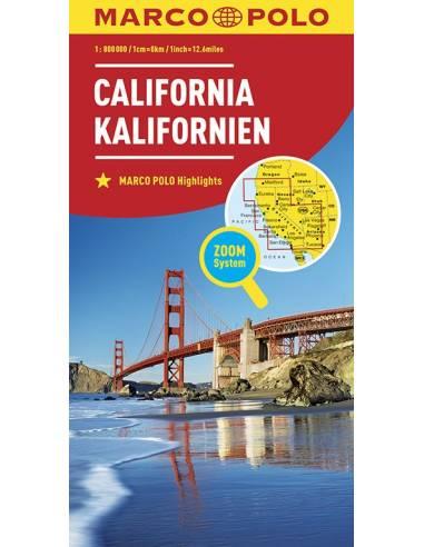 Kalifornia ZOOM térkép - MARCO POLO