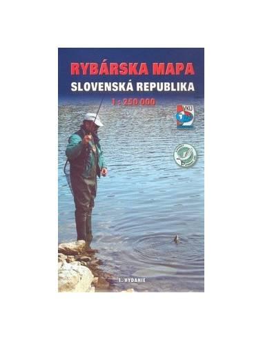 Szlovákia horgász téképe (Rybárska mapa)