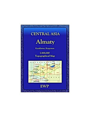 Közép-Ázsia topográfiai térkép + Almaty