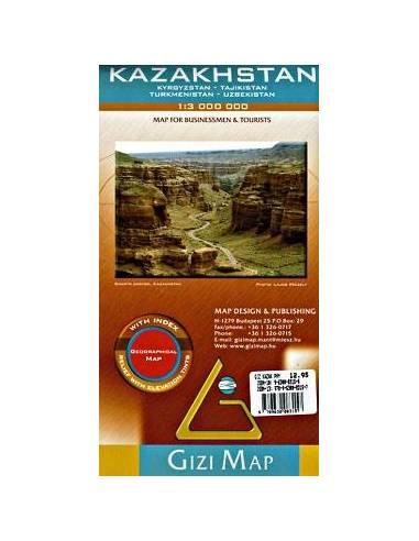 Kazahsztán domborzati térkép