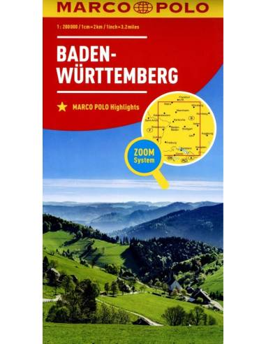 Baden-Württemberg ZOOM térkép - Marco...