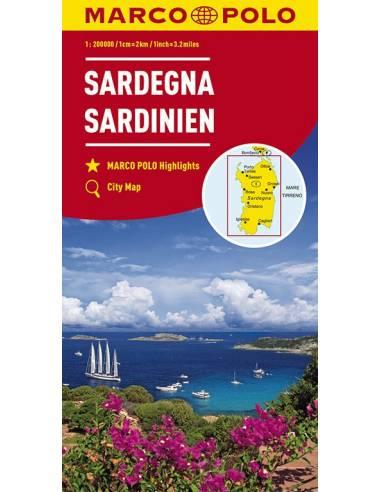 Sardinia - Szardínia térkép - Marco Polo