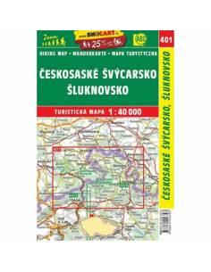 SC 401 Cseh-Svájc térkép -...