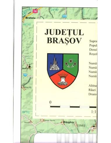 Brasov (Brassó) megye térkép