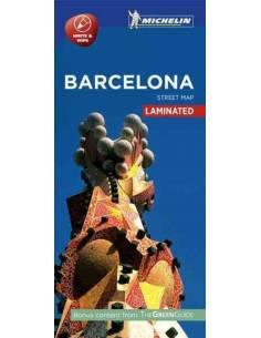 Barcelona laminált térkép -...