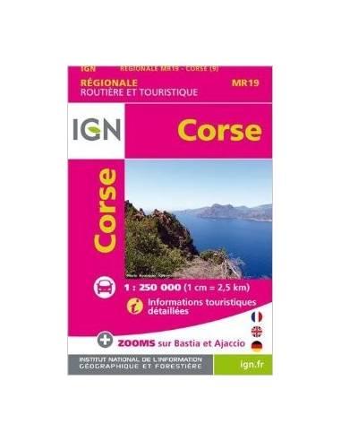 MR 19 Corse - Korzika mini turistatérkép