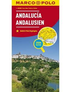 Andalúzia ZOOM térkép -...
