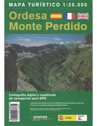 Ordesa, Monte Perdido turista térkép