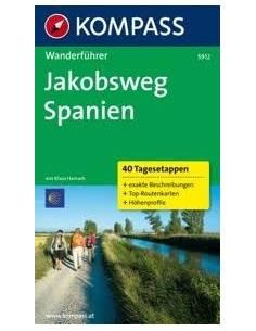 KK 5912 Jakobsweg Spanien Wanderführer - Szent Jakab út túrakalauz