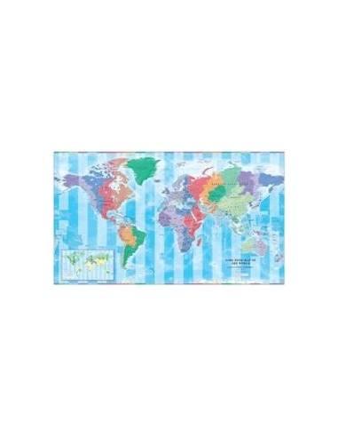 Világ időzóna - Time Zone térkép íves...