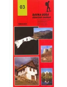S 03 Ravna Gora turista térkép