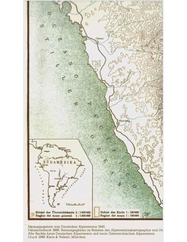 AV 0/3b Cordillera Blanca Süd térkép