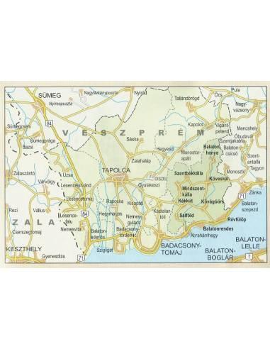 Tapolcai kistérség turista térkép