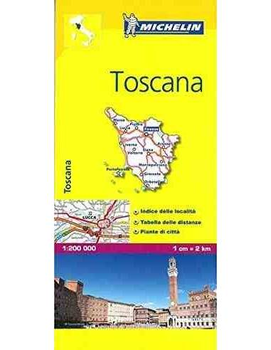 MN 358 Toszkána - Toscana térkép
