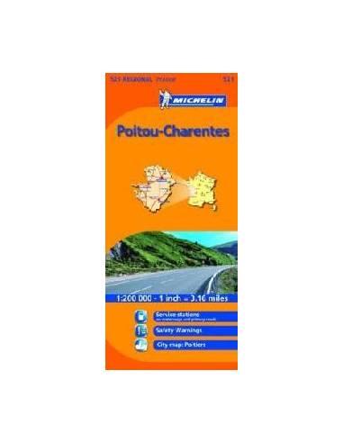 MN 521 Poitou-Charentes térkép