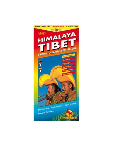 HIMALÁJA (HIMALAYA TIBET) TÉRKÉP