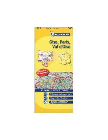 MN 305 Oise - Paris - Val d'Oise térkép