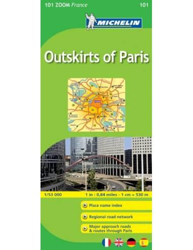 MN 101 ZOOM Párizs környéke térkép 50...