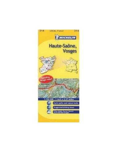 MN 314 Haute-Saone - Vosges térkép