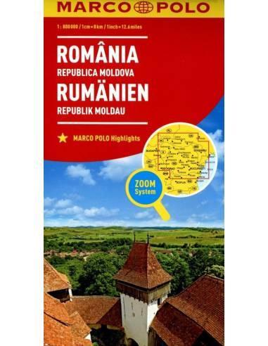 Románia és Moldávia térkép - Marco...