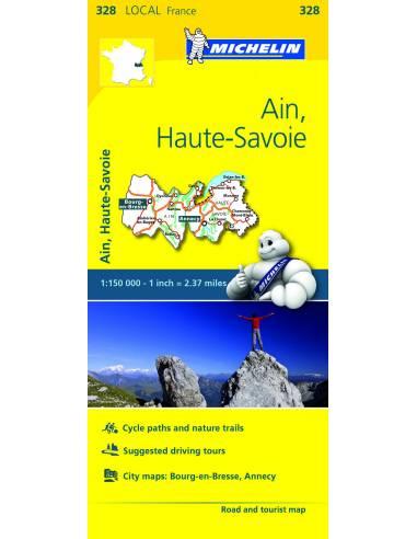 MN 328 Ain - Haute-Savoie térkép