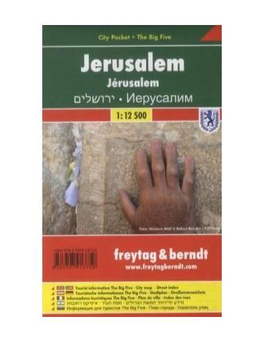 Jeruzsálem zsebtérkép (laminált)-City...