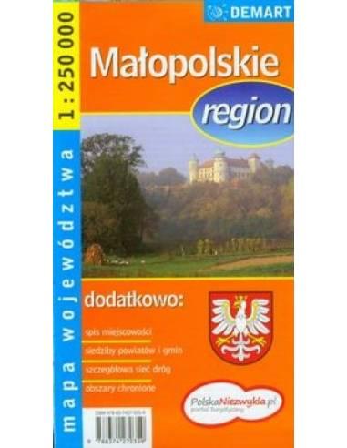 Malopolskie régió autótérkép