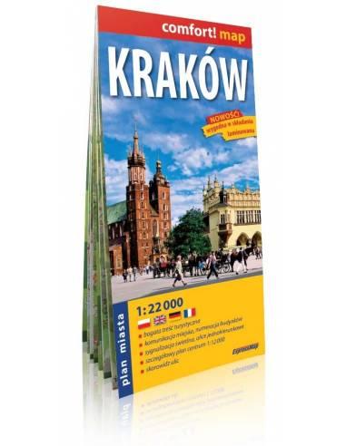 Kraków comfort! map - Krakkó laminált...