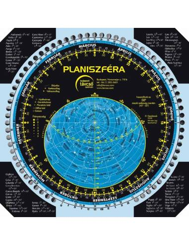 Forgatható csillagtérkép (Planiszféra)