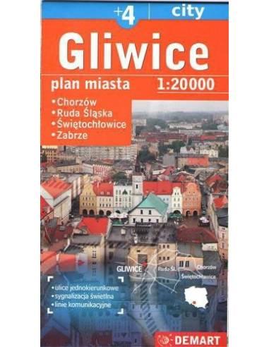 Gliwice + 4 város térképe