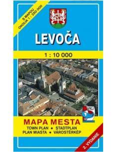 Levoca - Lőcse térkép