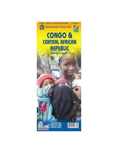 Congo & Central African Republic Map