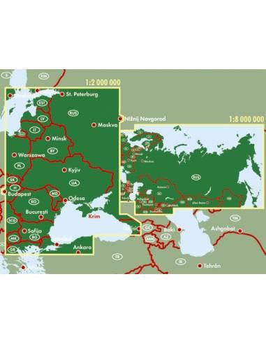 Oroszország - FÁK térkép