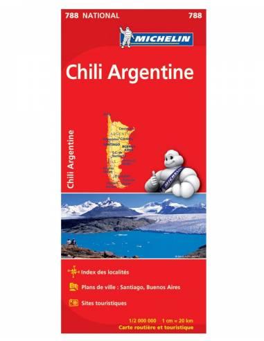 MN 788 Chile - Argentina térkép