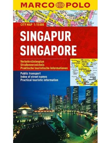 Singapore - Szingapúr city map...