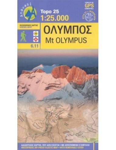 Olympus - Olümposz turistatérkép