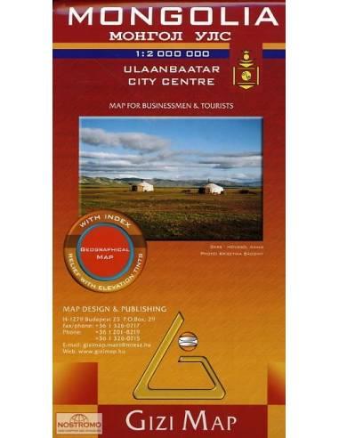 Mongólia domborzati térkép