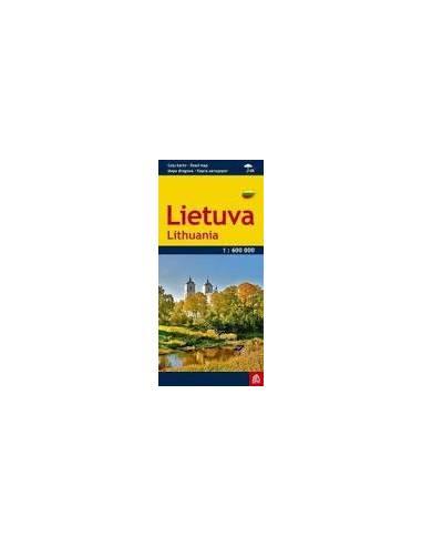 Lietuva - Litvánia esőálló autótérkép