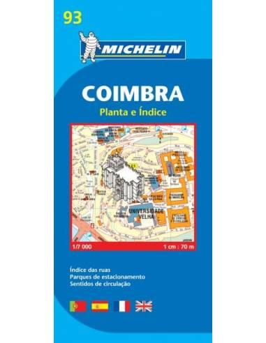 MN 93 Coimbra várostérkép