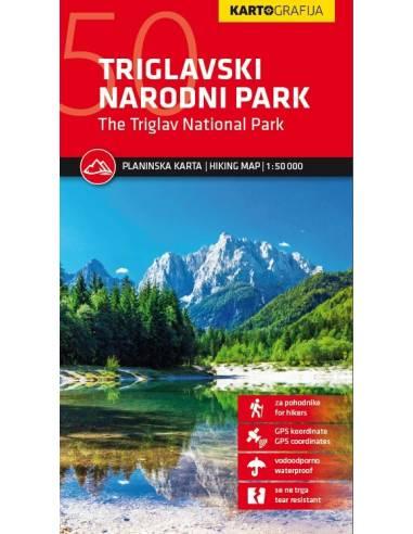 Triglav Nemzeti Park turistatérkép