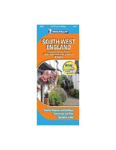 MN 608 Anglia dél-nyugat térkép...